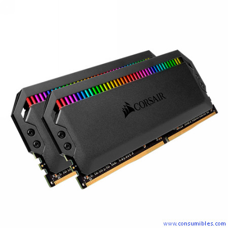 MEMORIA CORSAIR DDR4 16GB 2X8GB PC 3600 DOMINATOR PLATINUM RGB BLACK