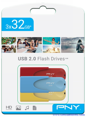 Comprar Periféricos FD32GATT4COLRBYX3-EF de PNY online.