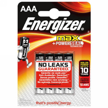 Baterias BLISTER 4 PILAS MAX TIPO LR03 (AAA) ENERGIZER