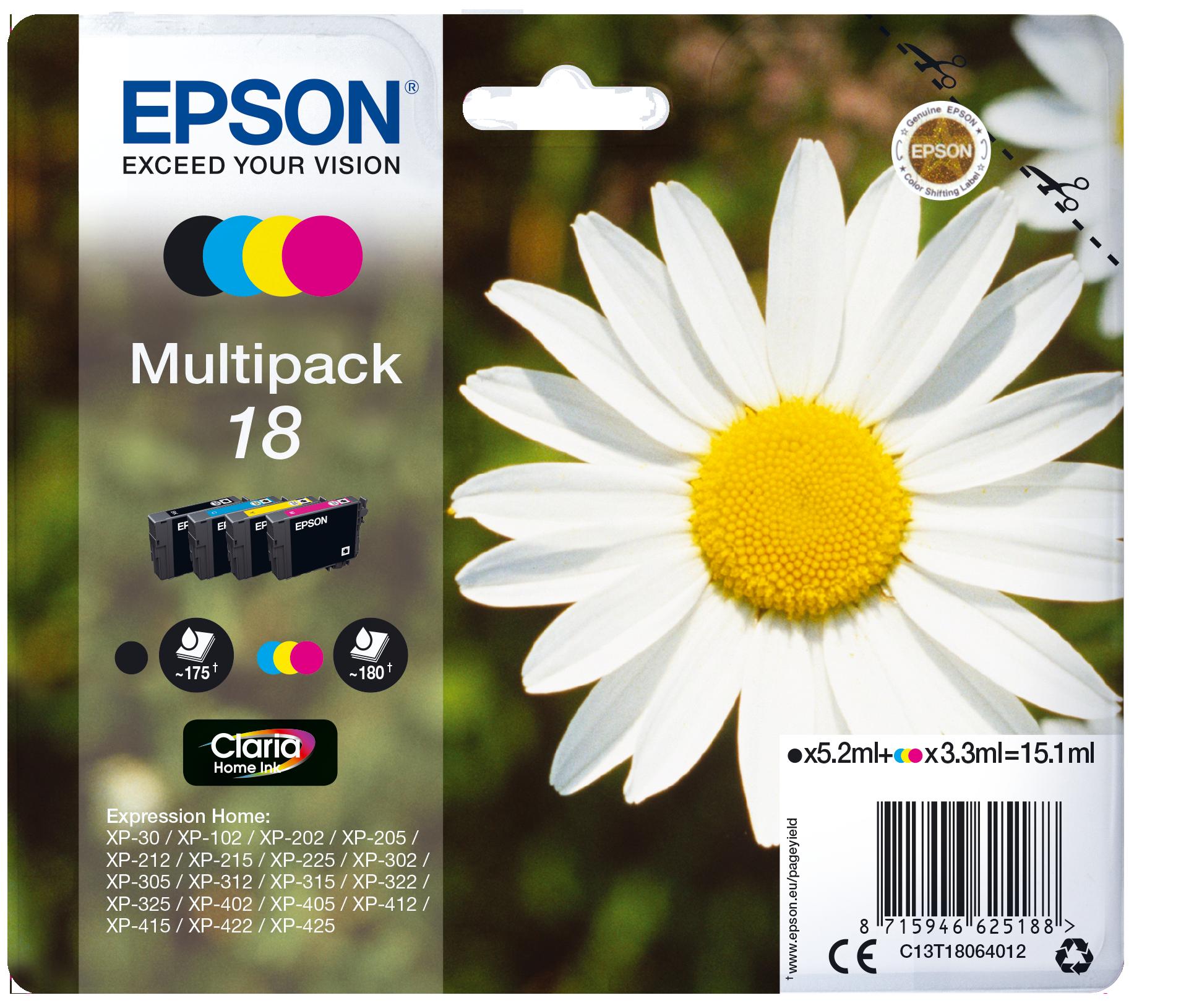 Comprar Cartucho de tinta C13T18064012 de Epson online.