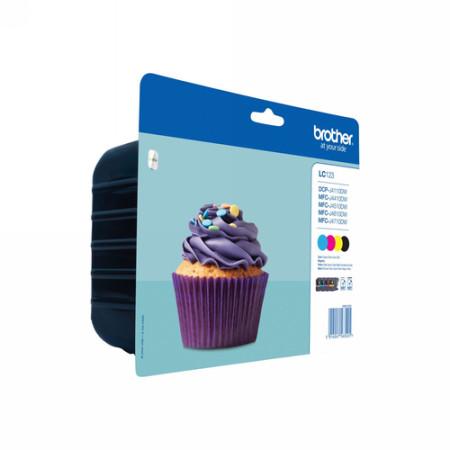 Comprar Rainbow pack cartuchos de tinta LC123VALBP de Brother online.