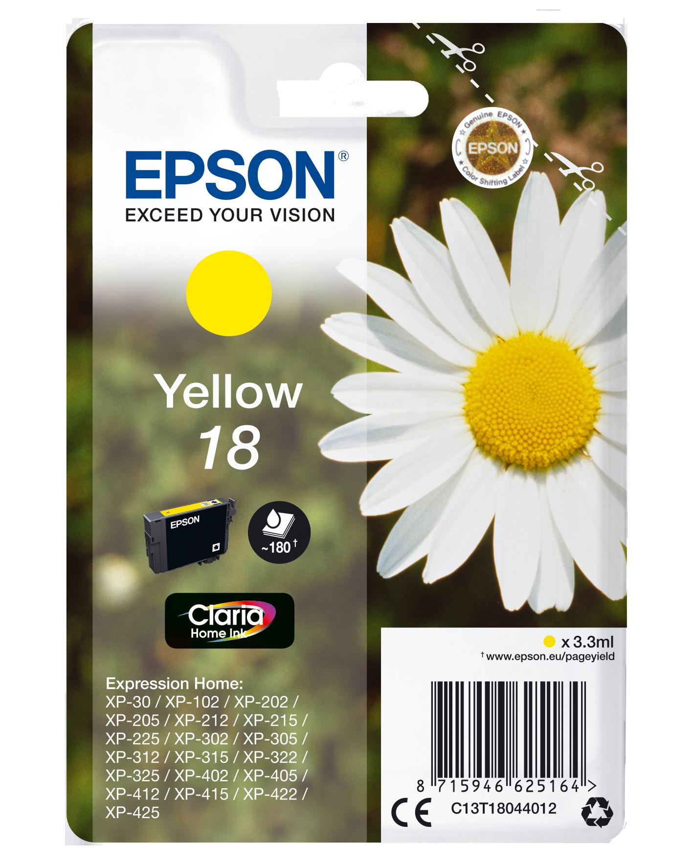 Comprar Cartucho de tinta C13T18044022 de Epson online.