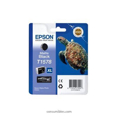 CARTUCHO DE TINTA NEGRO MATE 259 ML EPSON T1578