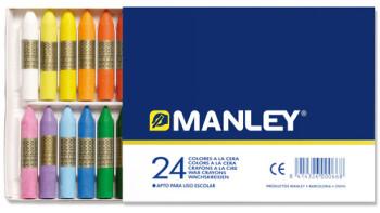 LAPICES CERA MANLEY CAJA DE 24 COLORES REF.124 MNC00066/124