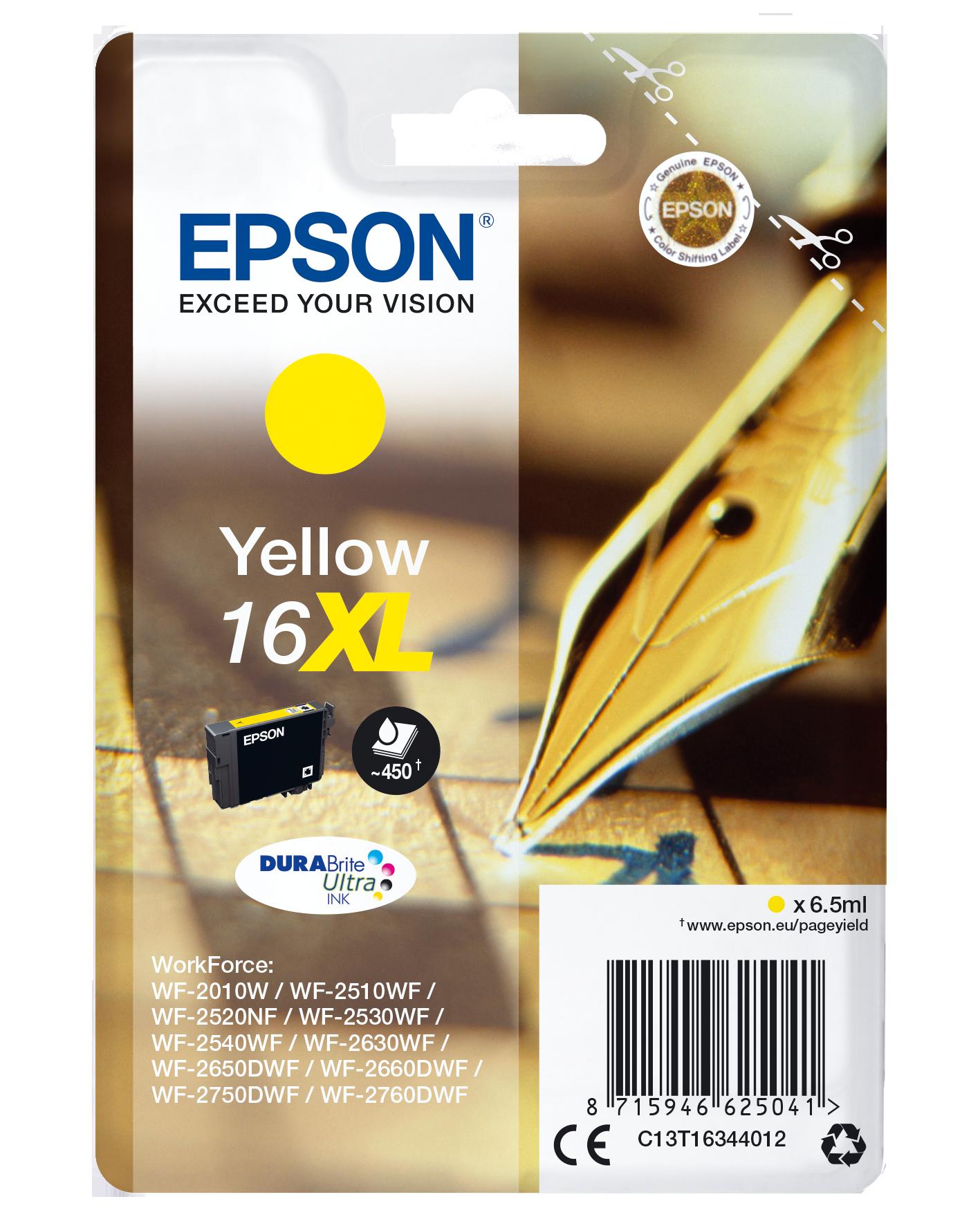 Cartucho de Tinta Amarillo Epson 16 - (T1634)