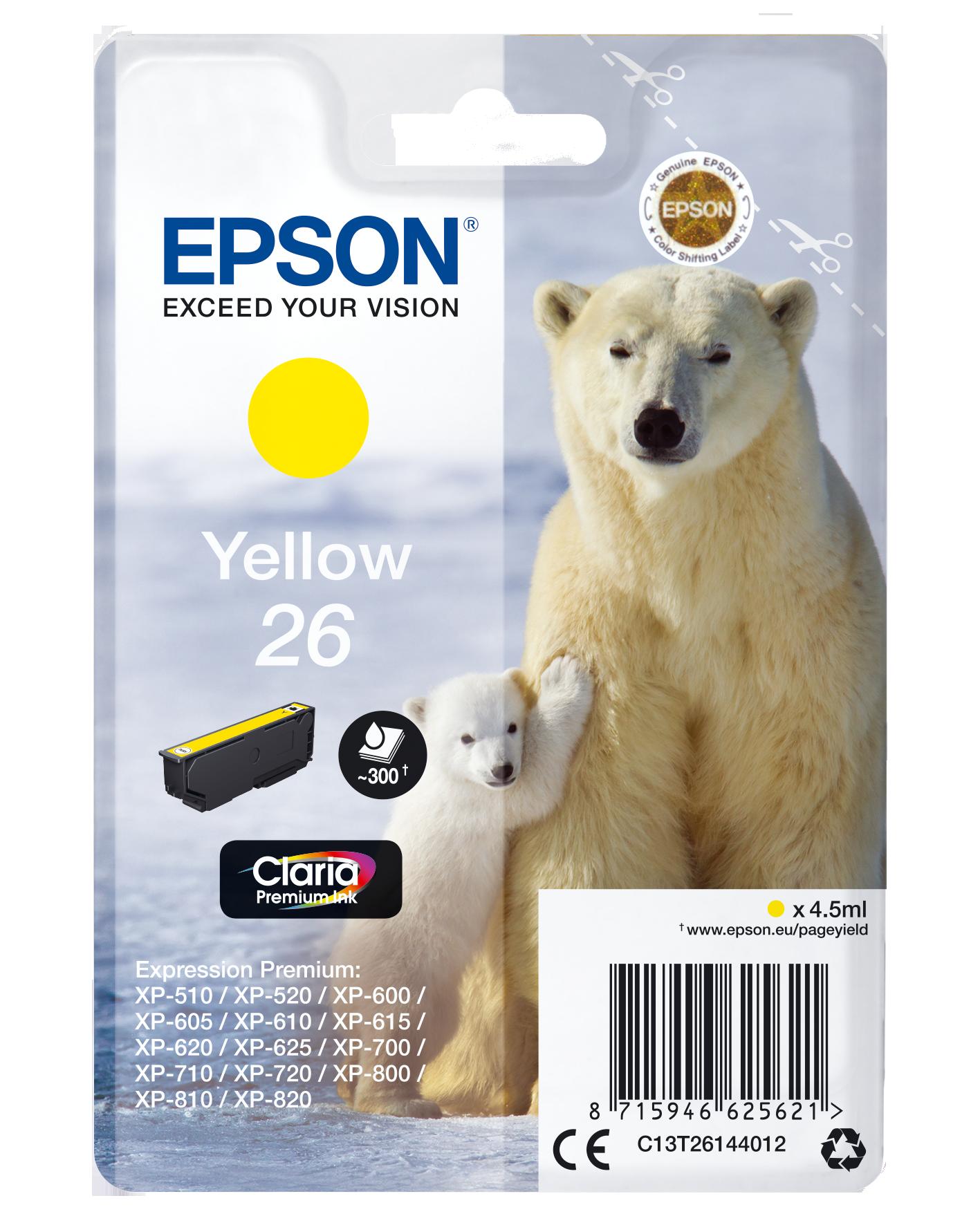 Comprar Cartucho de tinta C13T26144022 de Epson online.
