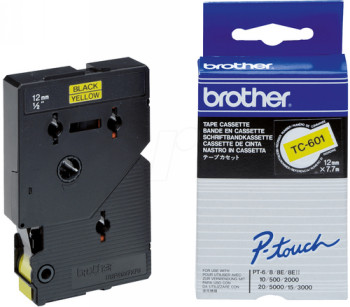 Comprar Cinta rotuladora 12 mm TC-601 de Brother online.