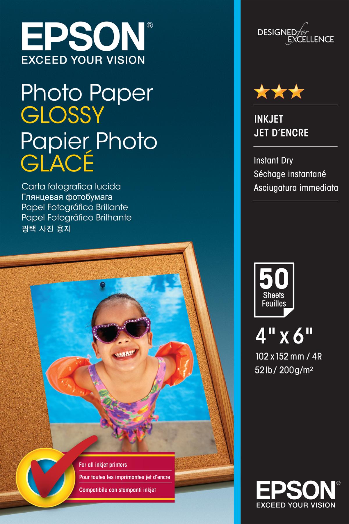 Epson C13S042547|Photo Paper Glossy 10x15 (4x6