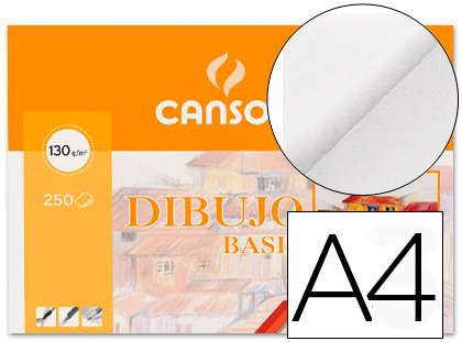 CANSON PAPEL GAMA DIBUJO BASIC 250 HOJAS A4 130 GR 200401405