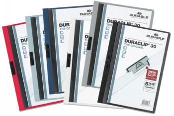 DURABLE CARPETA DURACLIP DOSSIER PINZA LATERAL AZUL CAPACIDAD 30 HOJAS 2200/06