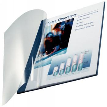 ENVASE DE 10 UNIDADES TAPA DE ENCUADERNACION CHANNEL FLEXIBLE 35547 AZUL LOMO A CAPACIDAD 36/70 HOJAS 73990035