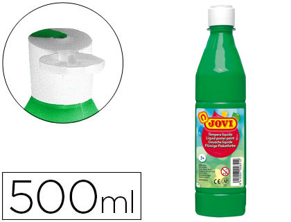 TEMPERA LIQUIDA JOVI ESCOLAR 500 ML VERDE MEDIO