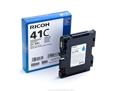 CARTUCHO DE GEL CIAN RICOH GC41C para Aficio SG 3110dn