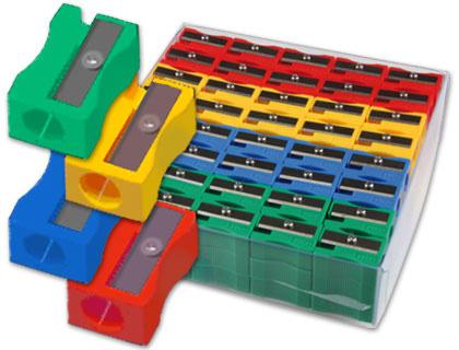 Plastico MOR SACAPUNTAS PLASTICO 80664 1 USO CAJA DE 120 UNIDADES