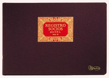 LIBRO MIQUEL RIUS N. 76 FOLIO APAISADO 100 HOJAS REGISTRO DE SOCIOS PARA S.R.L 5076
