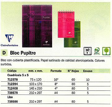 Comprar Blocs de notas con tapa 083280 de Uni-Extra online.