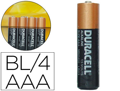 PILA DURACELL ALCALINA SIMPLY AAA BLISTER CON 4 PILAS S0560260
