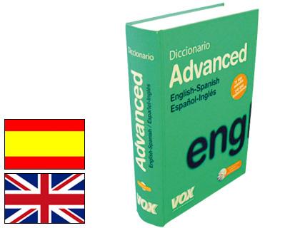 Diccionarios VOX DICCIONARIO VOX ADVANCED INGLES ESPAÑOL ESPAÑOL INGLES 2405464/2405466