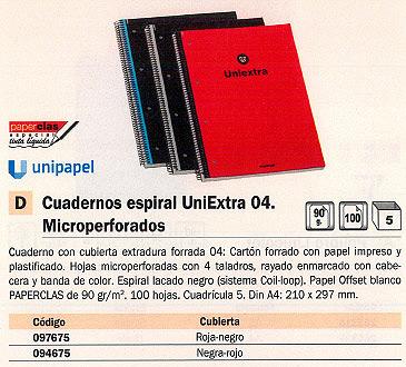 Comprar Cuadernos microperforados multiples secciones 094675 de Uni-Extra online.