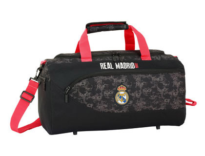 SAFTA REAL MADRID BLACK MOCHILA DOBLE ADAPTABLE A CARRO 320X420X160 MM