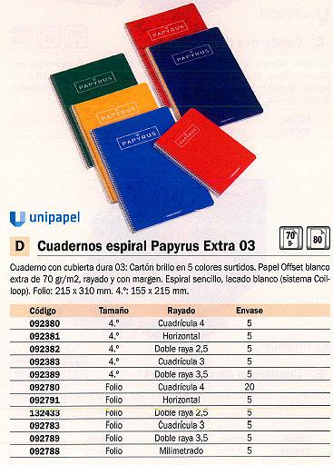 ENVASE DE 5 UNIDADES GUERRERO CUADERNO ESPIRAL EXTRA 03 80H 4º HORIZONTAL SURTIDO 092381