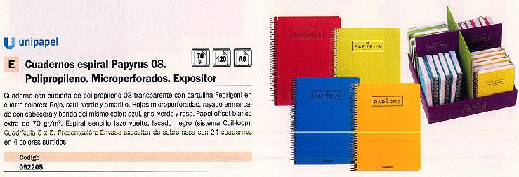 Comprar Cuadernos con espiral microperforados 092205 de Papyrus online.