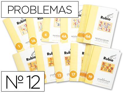 Problemas ENVASE DE 10 UNIDADES CUADERNO RUBIO PROBLEMAS Nº 12