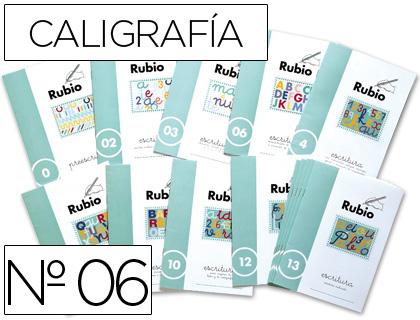 Escolares ENVASE DE 10 UNIDADESCUADERNO RUBIO CALIGRAFIA Nº 06