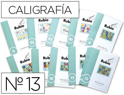 Caligrafia ENVASE DE 10 UNIDADES CUADERNO RUBIO CALIGRAFIA Nº 13
