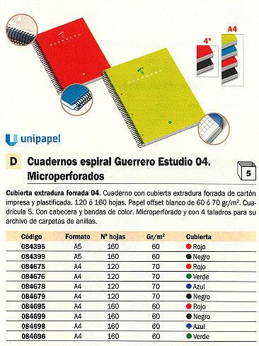 Comprar Cuadernos con espiral microperforados 084675 de Guerrero online.