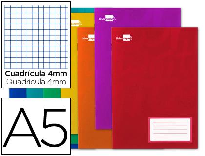 Libretas escolares ENVASE DE 20 UNIDADES LIBRETA LIDERPAPEL WRITE A5 16 HOJAS 60G/M2CUADRO 4MM CON MARGEN