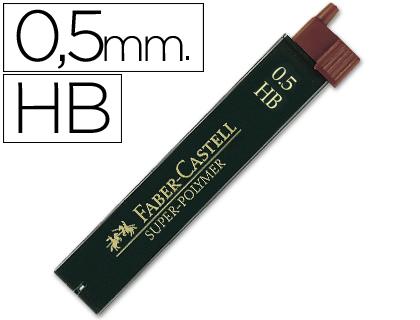 0,5 mm ENVASE DE 12 UNIDADES FABER CASTELL MINAS FABER GRAFITO 9065 0,5 MM HB -ESTUCHE DE 12 MINAS