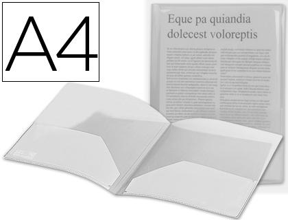 Dossiers polipropileno BEAUTONE CARPETA BEAUTONE DOSSIER DOS BOLSAS 35584 POLIPROPILENODIN A4 INCOLORA DB02