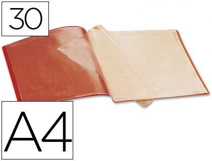 Carpetas escaparate BEAUTONE CARPETA BEAUTONE ESCAPARATE 37920 30 FUNDAS POLIPROPILENO DIN A4 ROJA