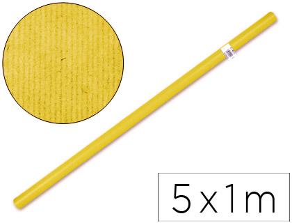 Papel kraft ENVASE DE 5 UNIDADES PAPEL KRAFT LIDERPAPEL -AMARILLO ROLLO 5X1 MT