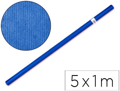 Papel kraft ENVASE DE 5 UNIDADES PAPEL KRAFT LIDERPAPEL AZUL -ROLLO 5X1 MT