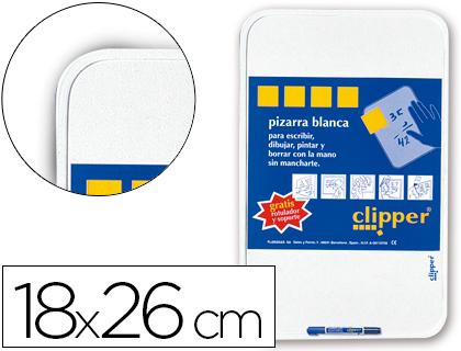 Pizarras blancas CLIPPER PIZARRA BLANCA CLIPPER PEQUEÑA18X26 CM -CON ROTULADOR