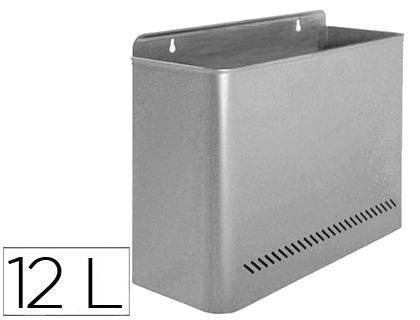 Papeleras metalicas PAPELERA METALICA 99 DE PARED 45X13X29 CM GRIS