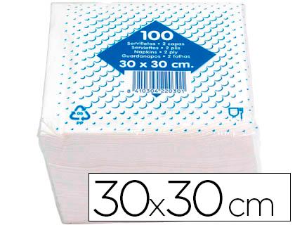Servilletas SERVILLETA ALGODON 30X30 CM -2 CAPAS -PAQUETE DE 100