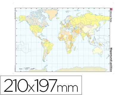 Mapas mudos ENVASE DE 100 UNIDADES 100 UD MAPA MUDO COLOR DIN A4 PLANISFERIO POLITICO