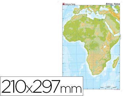 Mapa Mudo Fisico Africa Imprimir.Envase De 100 Unidades Mapa Mudo Color Din A4 Africa Fisico
