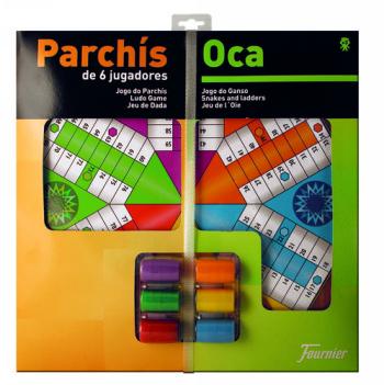 PARCHIS CON OCA TABLERO GRANDE6 JUGADORES 41X40X4,7