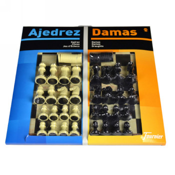 MARCA BLANCA AJEDREZ CON DAMAS TABLERO GRANDE 41X40X4,6
