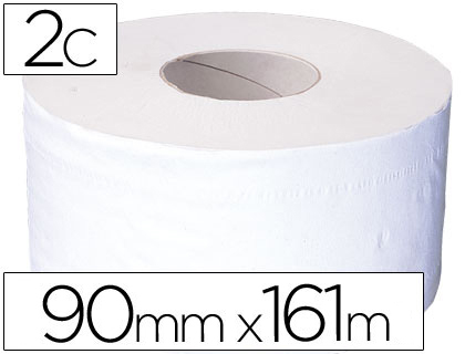 Dispensadores de papel higienico PAPEL HIGIENICO JUMBO 2/C BLANCO-MANDRIL DE 62,5 MM -PARA DISPENSADOR 325
