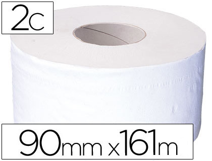 PAPEL HIGIENICO JUMBO 2/C BLANCO-MANDRIL DE 62,5 MM -PARA DISPENSADOR 325