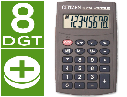 CITIZEN CALCULADORA CITIZEN BOLSILLO LC 210 II 8 DIGITOS LC-210 II