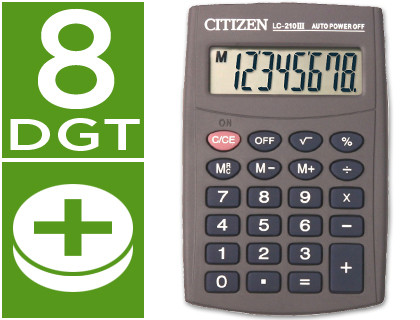 De bolsillo CALCULADORA CITIZEN BOLSILLO LC-210 II 8 DIGITOS