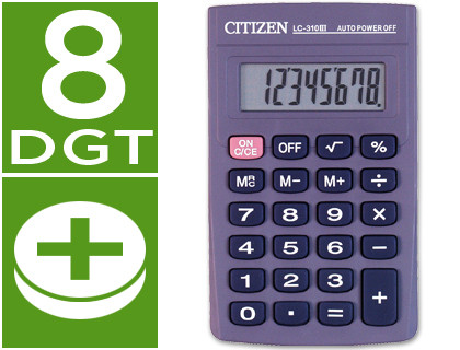 De bolsillo CALCULADORA CITIZEN BOLSILLO LC-310 II 8 DIGITOS