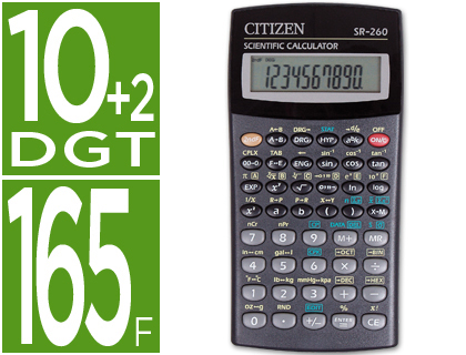 CITIZEN CALCULADORA CITIZEN CIENTIFICA SR 260 10+2 DIGITOS SR-260