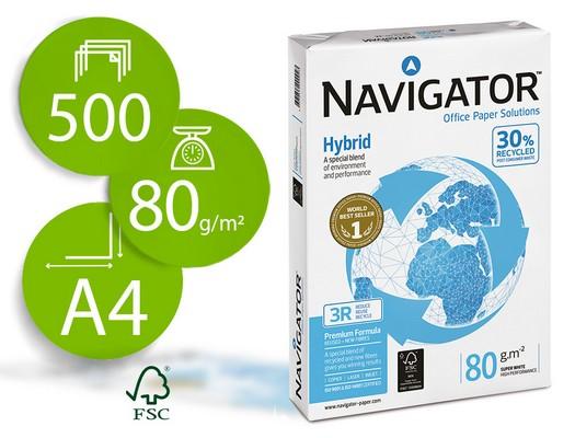 ENVASE DE 5 UNIDADES NAVIGATOR HYBRID.PAPEL MULTIFUNCION 500H 80 G. A4 003REX